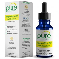 Vegan D3 + K2 Full Spectrum Drops for Best Absorption.
