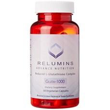 New Relumins Advance Nutrition Gluta 1000 - Reduced L-Glutathione Complex - 2x More Effective Than Jarrow at Raising Serum Glutathione