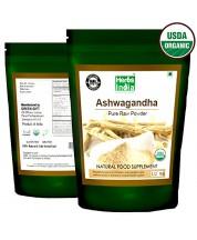 Organic Ashwagandha Root Powder Certified Organic - HerbsIndia