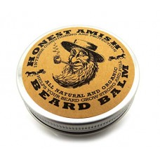 Honest Amish Beard Balm Leave-in Conditioner Made with Only Natural and Organic Ingredients -2 Ounce Tin