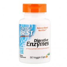 Doctor's Best Digestive Enzymes. Non-GMO Vegetarian, Gluten Free, 90 Veggie Caps