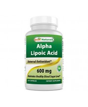 Best Naturals Alpha Lipoic Acid 600 mg 120 Capsules