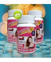 Three bottle pack of NANO GLUTA 800000 MG Super Active Whitening Pills